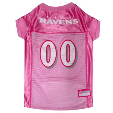 Pets First Baltimore Ravens NFL Pink Mesh Jersey, Small