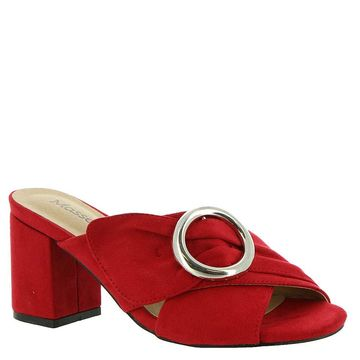 Masseys Womens Ruby Fabric Open Toe Classic Pumps