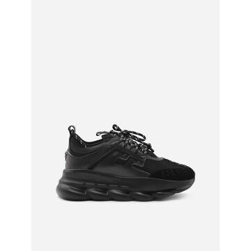 Versace Chain Reaction Sneakers With Rubberized Logo Detail