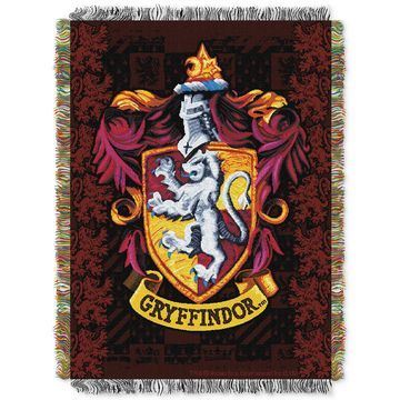 Harry Potter Gryffindor Triple Woven Tapestry Throw