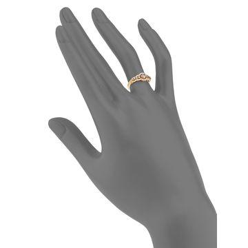 Chocolatier Chocolate Diamonds and Vanilla Diamonds 14k Honey Gold Ring