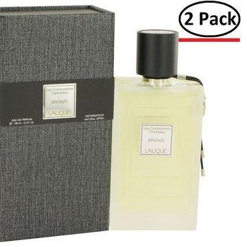Les Compositions Parfumees Bronze by Lalique Eau De Parfum Spray 3.3 oz for Women (Package of 2)