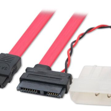 Syba CL-CAB40042 SATA to Mini SATA Data / Power with Molex Power Adapter