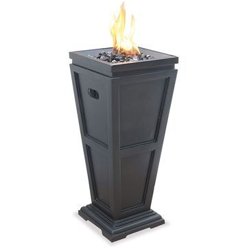 UniFlame Endless Summer GLT1332SP LPGas Outdoor Stainless Steel Fireplace-Medium