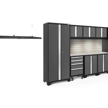 NewAge Products Bold Series 132-in W x 77.25-in H Charcoal Gray Steel Garage Storage System Stainless Steel | 50953