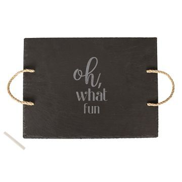 Cathys Concepts Oh What Fun Slate Serving Board