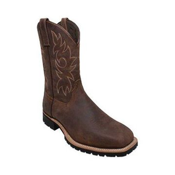 "AdTec Men's 9858 12"" Steel Square Toe Western Work Boots"