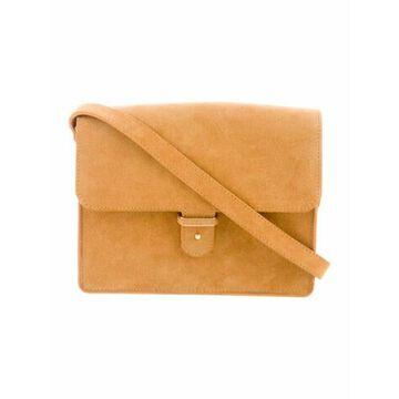 Suede Crossbody Bag Gold