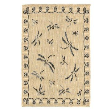 Trans Ocean Terrace Dragonfly 1791/67 Outdoor Rug, Neutral, 7'10