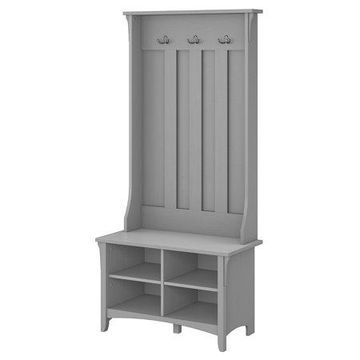 Bush Furniture Salinas Hall Tree With Storage Bench, Cape Cod Gray