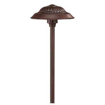 Hinkley Lighting Saucer LED Outdoor Path Light, Southern Clay