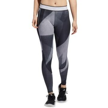 adidas Women's Printed Alphaskin Full-Length Tights