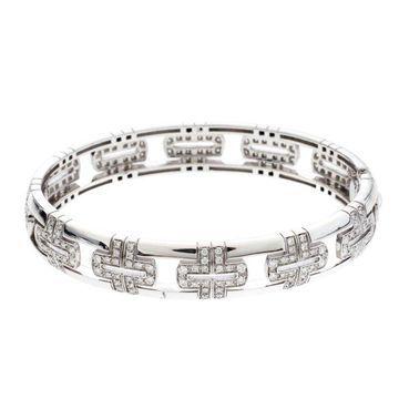 Bvlgari Parentesi Diamond 18k White Gold Openwork Bracelet