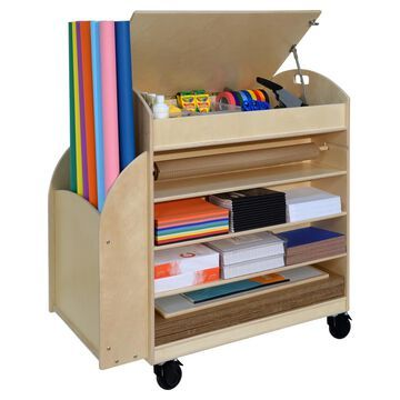 Wood Designs 991290 45 x 44 x 24 in. Makers Cart