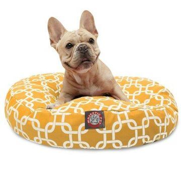 Majestic Pet Links Round Dog Bed Treated Polyester Removable Cover Machine Washable