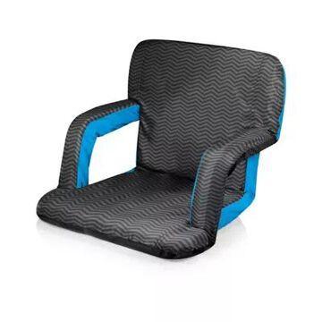 Picnic Time Ventura Portable Reclining Stadium Seat In Blue/grey grey/blue