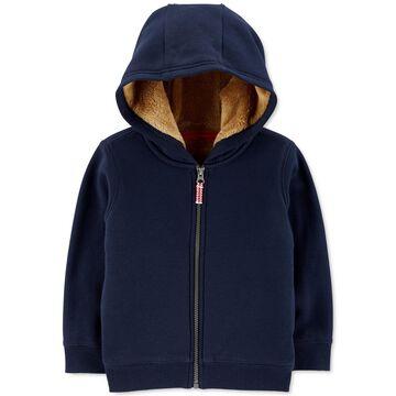 Toddler Boys Fleece-Lined Zip-Up Hoodie