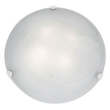 Access Lighting Mona 3-light 20 inch White Flush Mount