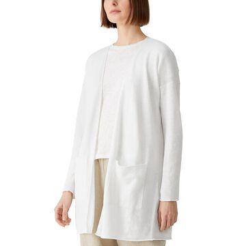 Eileen Fisher Long Organic Linen & Organic Cotton Cardigan