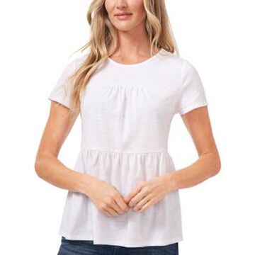 CeCe Petite Tiered Ruffled Top