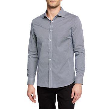Men's Long-Sleeve Dot-Print Sport Shirt
