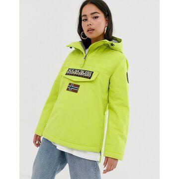 Napapijri Rainforest Winter 3 overhead jacket in lime-Yellow