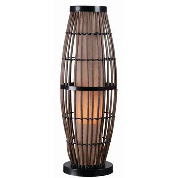 Lavinta Rattan with Black Accents 31-inch Indoor/ Outdoor Table Lamp