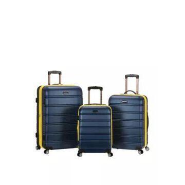 Rockland Melbourne 3 Piece Abs Luggage Set -