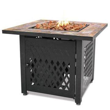 UniFlame Endless Summer LP Gas Fire Pit with Slate Tile Mantel