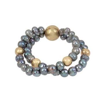 Robert Lee Morris Soho Pearl Double Row Bracelet
