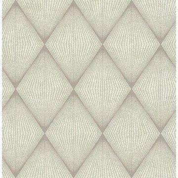 Brewster Geometric Green Apothem Wallpaper