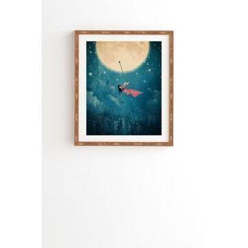 Deny Designs Moon Swing Framed Wall Art