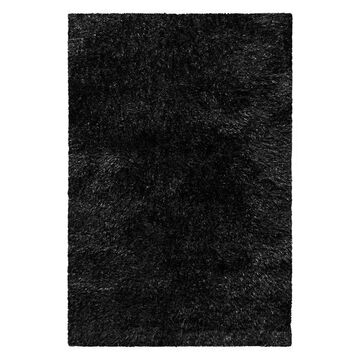 Superior Collection Hand Woven Shag Rug 6'x9' - black