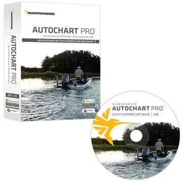 Humminbird AutoChart PRO DVD PC Mapping Software w/ Zero Lines Map Card & Depth Colors 600032-1