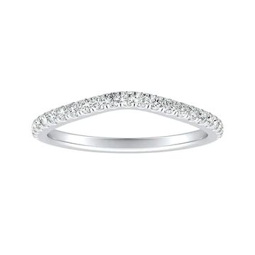 Auriya 1/5ctw Contoured Diamond Wedding Band Platinum