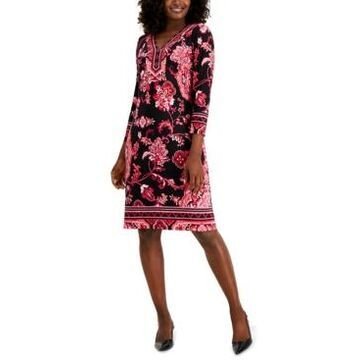 Jm Collection Nadia Printed Embellished Dress, Created for Macy's