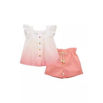 Bonnie Jean Girls' Girls 4-6X OmbrA Top With Shorts Set - -