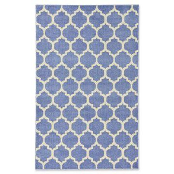 Unique Loom Philadelphia Trellis 5' x 8' Area Rug in Light Blue