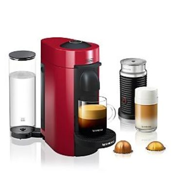 Nespresso VertuoPlus Coffee & Espresso Maker by De'Longhi with Aeroccino Milk Frother