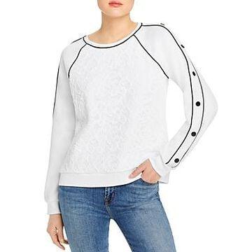 Karl Lagerfeld Paris Lace Front Sweatshirt