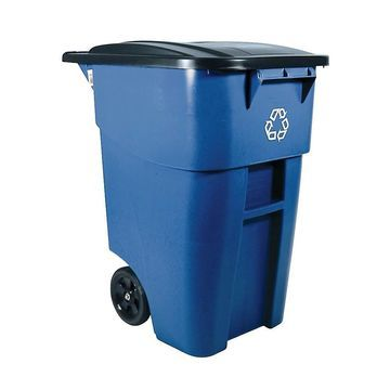Rubbermaid Square Brute Big Wheel Container, 50 Gallons, Blue