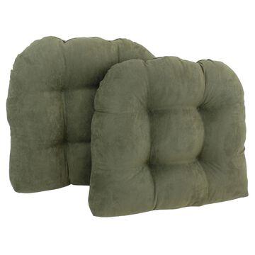 Blazing Needles 19-inch U-Shaped Microsuede Chair Cushion (Set of 2)