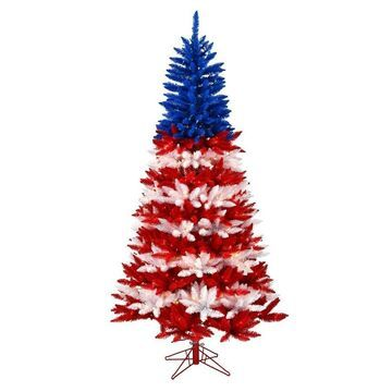 Vickerman 7.5-ft Pre-lit Traditional Assorted Artificial Christmas Tree with 900 Constant Clear Incandescent Lights