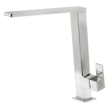 ALFI Square Modern Kitchen Faucet, Polished Stainless Steel