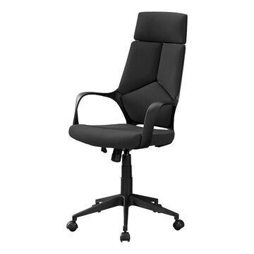 Monarch Pieced Executive High Back Office Chair, Black