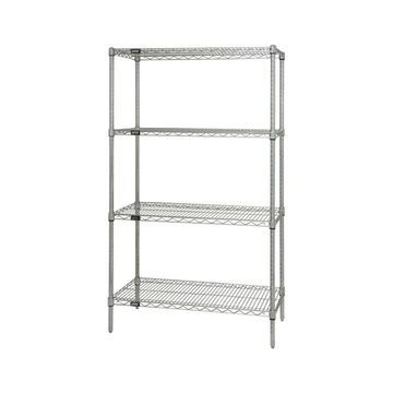 Quantum Storage Systems Wire 4 Shelf Starter Unit in Chrome Finish - 24