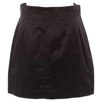 Prada Black Silk Skirts