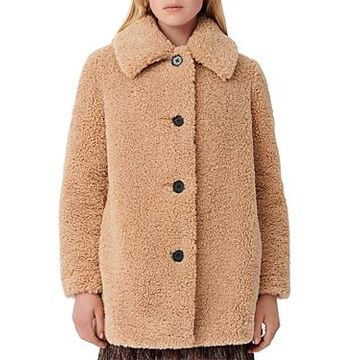 Maje Gatino Faux Fur Coat