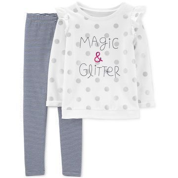 3328129a825f1 Girls 2-Pc. Magic & Glitter Top & Leggings Set. Macy's