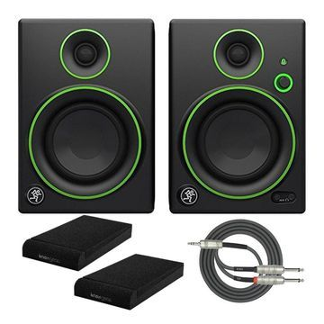 Mackie CR4BT 4-inch Multimedia Monitors with Isolation Pads and Stereo Cable